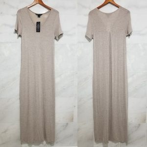 French Connection Short Sleeve Vneck Knit Maxi
